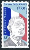 ST-PIERRE ET MIQUELON 1995 - Yv. 622 **   Faciale= 2,13 EUR - Général Charles De Gaulle 14f00  ..Réf.SPM12095 - Unused Stamps