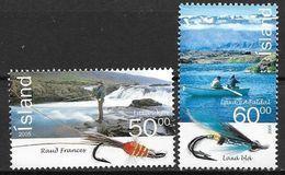 Islande 2005 N°1032/1033 Neufs** Mouches Pour Pêche Au Saumon - Unused Stamps