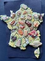 """Série Complète De 22 Fèves Brillantes Puzzle  """"La France Gourmande"""" 2005 - Pays"""