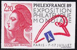 France Non Dentelé N° 2524 Philexfrance'89 Qualité:** - Imperforates