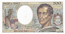 200 Francs  Montesquieu   1985  F  028   S P L - 200 F 1981-1994 ''Montesquieu''