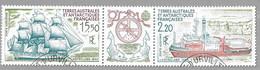 """VV18 - 1990 - TAAF PA113A Triptyque """" ASTROLABE """" En 1840 Et """" ASTROLABE """" En 1990 .oblitéré. - Oblitérés"""