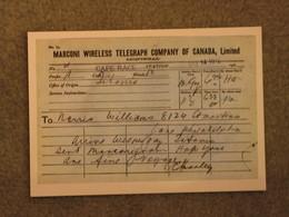 WHITE STAR LINE TITANIC WIRELESS TELEGRAPH - MARINE ART CARD NO 3 - Piroscafi