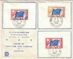 France - Strasbourg - Premier Jour - Conseil De L'Europe - 10 Octobre 1958 - 1950-1959