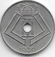 *belguim 10 Centimes 1939  French  Vf+ - 02. 10 Centimes