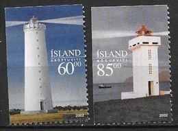 Islande 2002 N°933/934 Neufs** Phares - Unused Stamps