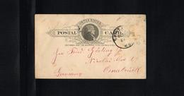 1889 - USA Postcard - From Saint Louis To Osnabrück (D) [B09_010] - ...-1900