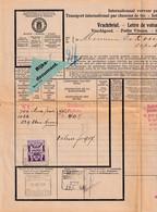 DDY 102 - Vrachtbrief Station SCHIEDAM N.S. 1934 Vers ESSCHEN - SCARCE Verzekering Zegel - Genièvre Wittkampf - Chemins De Fer