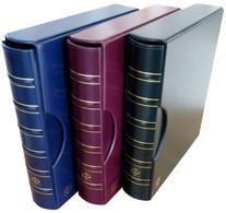 CLB001 - CLASSEUR À ANNEAUX LEUCHTTURM AVEC ETUI - Modèle GRANDE Format A4 - Occasion - Material