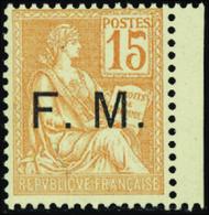 FRANCE  FRANCHISE MILITAIRE N°1 15c Orange. Qualité:** - Franchise Stamps