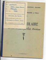 FRANCE..MR DALLAPORTA...SEMINAIRE DE *SOUISSI  -MAROC *    BULLETIN SCOLAIRE 1952-3............. - Diploma & School Reports