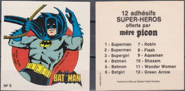 Autocollant - MERE PICON - BAT-MAN N°5 - DC Comics- 1977 - Altri Oggetti Fumetti