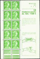 FRANCE  CARNETS N°1010 C1  12f Marianne De Muller. Qualité:** - Zonder Classificatie