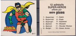 Autocollant - MERE PICON - ROBIN N°7 - DC Comics- 1977 - Altri Oggetti Fumetti