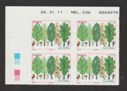 FRANCE / 2011 / Y&T N° AA 564 ** : Europa (Les Forêts) Adhésif X 4 - Coin Daté 2011 01 26 - HEL 306 - 2010-....