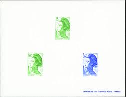FRANCE  EPREUVES N°2483 /2485 Liberté épreuve De Luxe Collective. - 1982-90 Liberté De Gandon