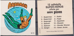 Autocollant - MERE PICON - AQUAMAN N°9- DC Comics- 1977 - Altri Oggetti Fumetti