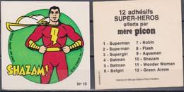 Autocollant - MERE PICON - SHAZAM N°10 - DC Comics- 1977 - Altri Oggetti Fumetti
