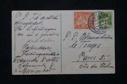 TCHÉCOSLOVAQUIE - Affranchissement De Mariánské Lázně Sur Carte Postale En 1923 Pour La France - L 77882 - Cartas