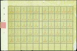 FRANCE VARIETES N°157 Feuille De 50 Timbres Mill 2 Surcharge Recto-verso Qualité:** - 1900-29 Blanc