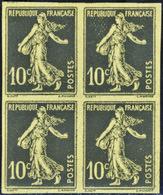 FRANCE VARIETES N°138 Essai Haegelin Bloc De 4. - Varieties: 1900-20 Mint/hinged