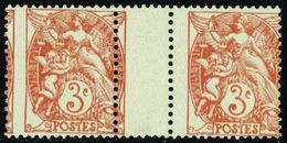 FRANCE VARIETES N°109 Paire Piquage à Cheval Qualité:** - 1900-29 Blanc