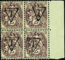 """FRANCE VARIETES N°108 Bloc De 4 Surcharge """"T"""" (1ex*) Qualité:** - 1900-29 Blanc"""