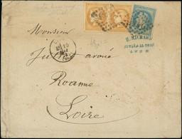 "France 1870 ""Bordeaux"" Issue 10c. Bistre-yellow, Two Examples, Good Margins Except For One Side - 1870 Emisión De Bordeaux"