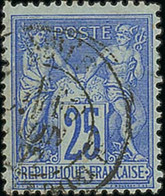 "France 1876-1900 Type ""Sage"" Issues 25c. Ultramarine On Greenish, Type II, Fine Used And Scarce. - 1876-1878 Sage (Type I)"