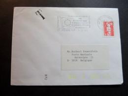 Enveloppe Flamme ST ETIENNE Reçoit Le Drapeau D'honneur Du Conseil De L'Europe - Sobres