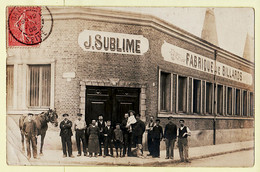 X93034 Rare Carte Photo LES LILAS 2 Rue CHASSAGNOLLE Fabrique De Billards Autographe J.SUBLIME Du 12.07.1905 - Les Lilas