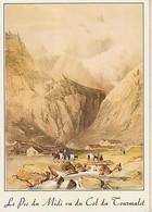 Hautes Pyrénées        H360        Bagnères De Bigorre.Le Pic Du Midi.Vue Du Col Du Tourmalet ( Lithographie ) - Bagneres De Bigorre