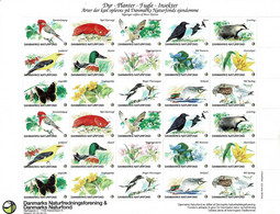 Denmark; Poster Stamp Sheet.  Animals, Plants, Birds And Insects.  MNH (**) - Non Classificati