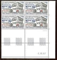 TAAF PA N°147** Bloc Coin Daté De 4 Valeurs (3/10/1997) - COTE17.20 € - Luftpost