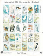 Denmark WWF 1994.  Sheet  With 30 Labels; Fauna And Flora In Greenland; MNH(**). - Non Classificati