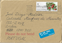 UK Cover To Portugal With ATM Stamp - Brieven En Documenten