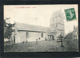 CPA - SAINT PIERRE LANGERS - L'Eglise - Sonstige Gemeinden