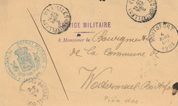 Commandant Du District Militaire D'Ixelles Vers Boitsfort Soldat 1èr Chasseur à Pied Licencié - Document Pas Courant - Postales [1871-09]