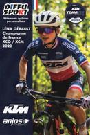 Cyclisme, Léna Gérault, Championne De France VTT 2020 - Radsport