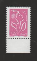 FRANCE / 2005 / Y&T N° 3758 ** : Lamouche ITVF 1,22€ Lilas X 1 BdF Bas - Unused Stamps
