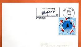 MOZART  (  Timbre Concordant ) 69 LYON  Lettre Entière N° RS 899 - Gedenkstempels
