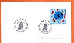 MOZART  (  Timbre Concordant ) 35 RENNES  Lettre Entière N° RS 900 - Gedenkstempels