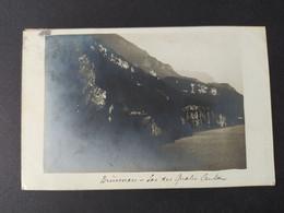 """Carte Photo De Suisse - """"Brunnen - Lac Des Quatre Cantons"""" / Timbre Et Cachet 1906 - SZ Schwyz"""