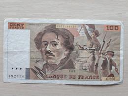 FRANCE 100 FRANCS 1993 VF - 100 F 1978-1995 ''Delacroix''