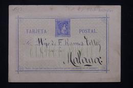 ESPAGNE - Entier Postal De Oviedo Pour Malaga En 1875 - L 77936 - 1850-1931