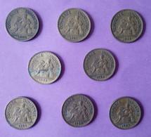 Piece De Monnaie  Bon Pour 1 Franc De 1920 1921 1922 1923 1924 1925 1926 1927 Le Lot De 8 Pieces - En L Etat - - H. 1 Franc