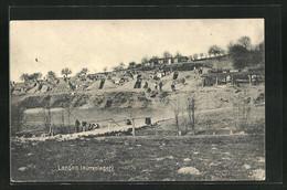 CPA Lancon, Hüttenlager, 1. Weltkrieg - Non Classificati