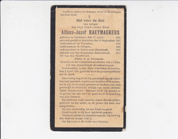 Doodsprentje - Alfons-Jozef Raeymaekers Priester - Lichtaart 1873 / Leuven 1935 - Obituary Notices