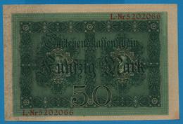 DEUTSCHES REICH 50 Mark 05.08.1914 Série L # 5202066   P# 49b DARLEHENSKASSENSCHEIN - 50 Mark