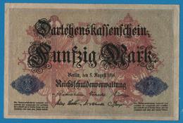 DEUTSCHES REICH 50 Mark 05.08.1914 Série T # 4653217   P# 49b DARLEHENSKASSENSCHEIN - 50 Mark